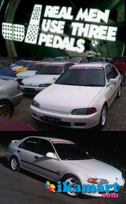 Honda civic genio sr4 putih white exellence th 1993 m t for 1993 honda civic ej1 for sale