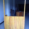 booth kayu murah
