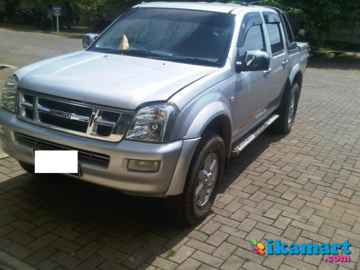 dmax rodeo ls double cabin 2005 warna silver 4x4 istimewa seperti baru ex mobil pribadi
