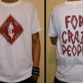 T-Shirt Crazy Inc Diamond White/Cordovan