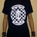 T-Shirt Crazy Inc Shield Checkerboard Black/White