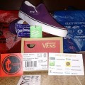 Vans Slip On Plum Purple/True White Original