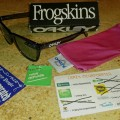 Oakley Eyewear Frogksins Crystal Black/Emerald Irrid Original