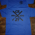 T-Shirt Crazy.Inc Letter X Game Royal/Black