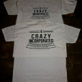 T-Shirt Crazy.Inc Retro Badge White/Black