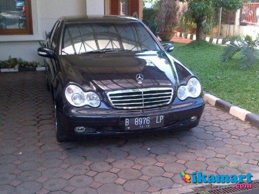 jual mercy c200 classic thn 2001 a t,hitam