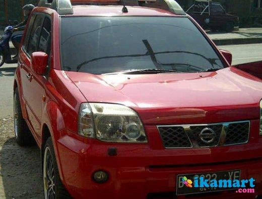 jual nissan x-trail a t merah tahun 2006