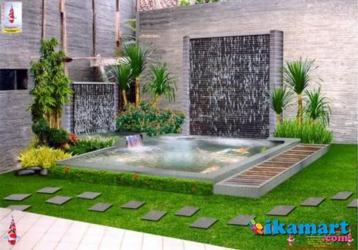 tukang taman, taman dan kolam minimalis, saung - Rumah