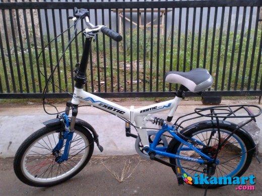 Jual Sepeda Lipat Exotic Dual Shock Msh Baru 890rb Sepeda