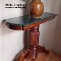 Meja console batu marmer hijau