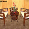Set sofa tamu CNT kayu jati