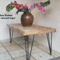 Meja tamu antik papan utuh alias tidak sambung