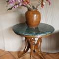 meja marmer hijau 70cm, kaki design ckh