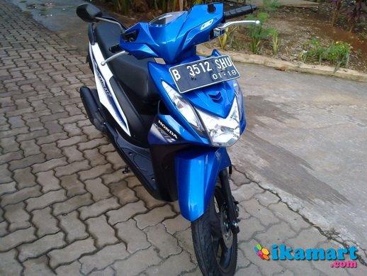 Modifikasi Motor Honda Beat Fi Warna Biru Putih Motorwallpapers Org