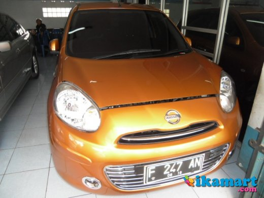 jual nissan march 2011 manual orange