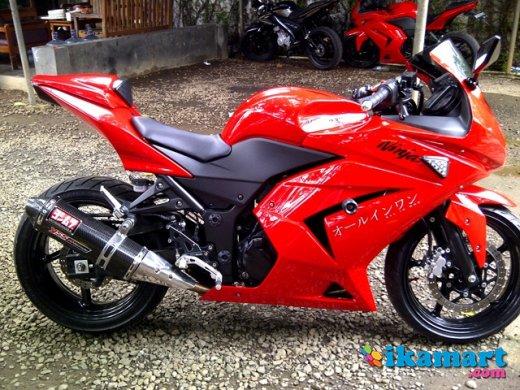 Keren 31  Modifikasi Kawasaki Ninja 250 Karbu Merah