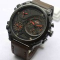 Jam Tangan Harley Davidson Tripel Time Tali Kulit ( Model Expedition )