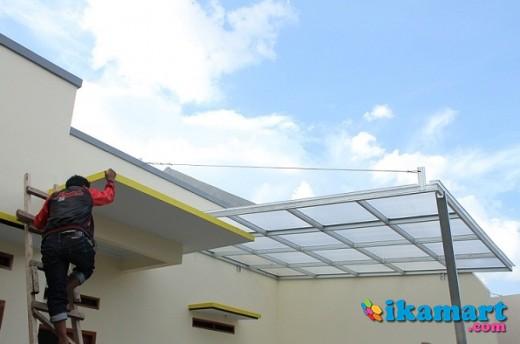 Gambar Konstruksi Kanopi Baja Ringan  canopy baja ringan di bandung properti lainnya
