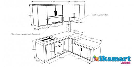 Mebel meja dapur peralatan rumah for Peralatan kitchen set