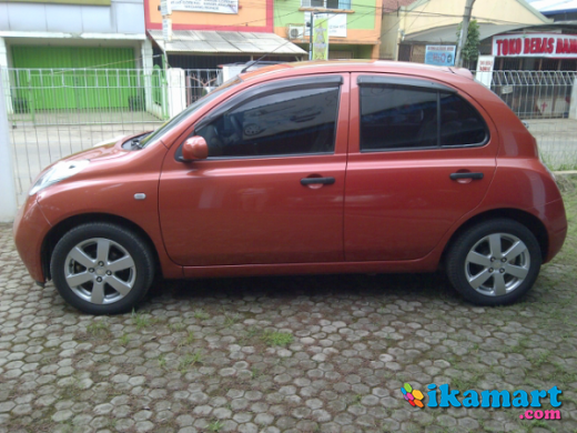 jual nissan march built up 2004 matic oranges km baru 52rban asli