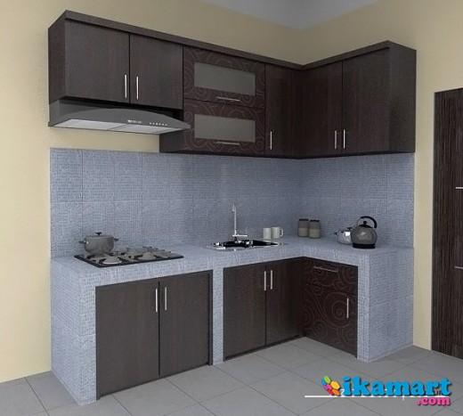 Jasa pembuatan kitchen set murah berkualitas peralatan rumah for Kitchen set bekas