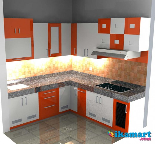 Kitchen Set Minimalis Hpl Duco Peralatan Rumah
