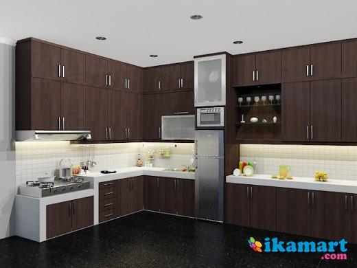Kitchen set minimalis modern lapis hpl semarang for Peralatan kitchen set