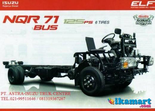 jual chasis medium bus isuzu elf nqr 71