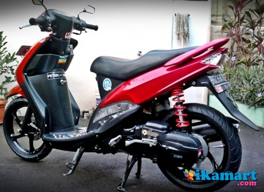 modifikasi mio sporty merah terkeren