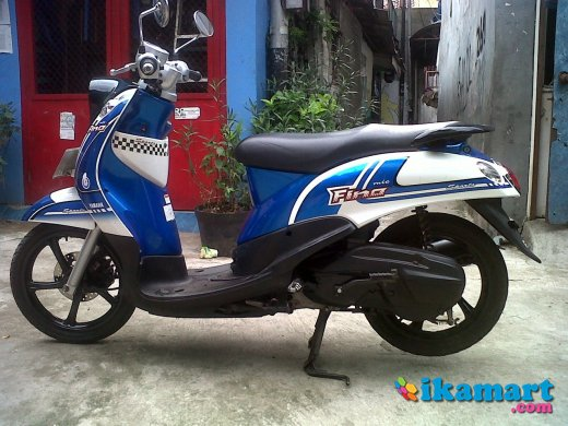 Top modifikasi mio fino biru