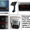 paket karaoke keluarga dengan player hardisk 2 tera+ touch screen  lagu dan klip asli asirindo   HARGA 13,7JT