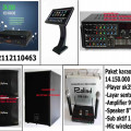paket karaoke keluarga dengan player hardisk 2 tera+ touch screen  lagu dan klip asli asirindo   HARGA 14,15JT