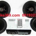 "Tape Mobil USB merk OWL OL-838+ 4 pcs speaker coaxial 6""  harga 395rb/set"