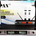 microphone wireless uhf HB2016  + koper aluminium mewah  harga 2jt /2mic