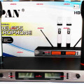 microphone wireless uhf HB2012 + koper aluminium mewah  harga 1,8JT /2mic