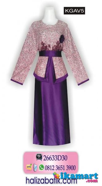 Model Gamis Batik Terbaru Baju Batik Model Ikat Pinggang
