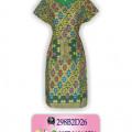 Motif Batik Pekalongan, Model Dress Batik, Koleksi Baju Batik Wanita, BP02DE