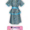 Model Dress Batik, Dress Batik Modern, Baju Dress Batik, KDR1
