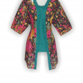 Model Baju Batik Terkini, Mode Batik Modern, Butik Baju Batik, WKB735
