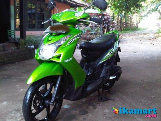 modifikasi motor mio soul warna hijau terpopuler