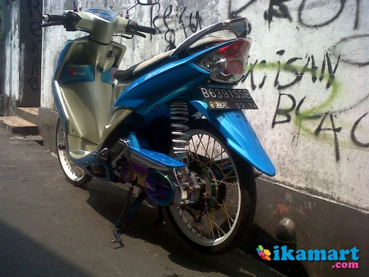 referensi modifikasi motor mio soul warna biru