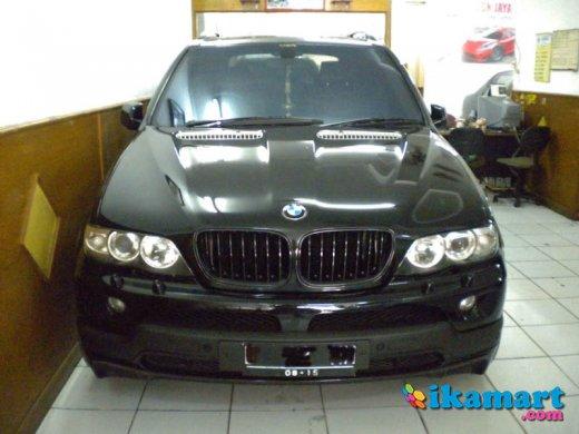 jual bmw x5 05 full option panoramic - black - air suspension - like new