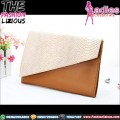 Handbag Fashionable - Snake Pattern Cream