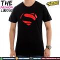 Kaos Superman Logo Karet - Black