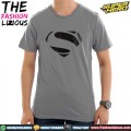 Kaos Superman Logo Karet - Grey