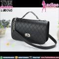 Tas Wanita Fashion - Rhombus Chain Black