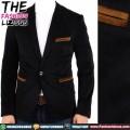 Blazer Textured With Brown Pocket