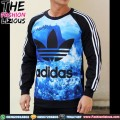 Sweater Pria Import - Adidas Blue Ocean
