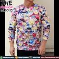 Sweater Pria Import - Emoticons Fullprint