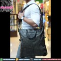 Tas Pria Import - Slingbag Leather Big 950 Black & Grey